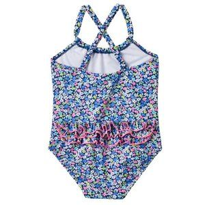 NWT Carter's Floral Ruffled Back Swimsuit